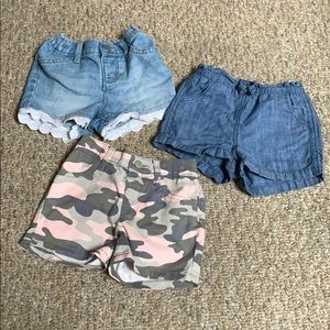 Other - 3 pc. Girls Toddler Shorts Bundle